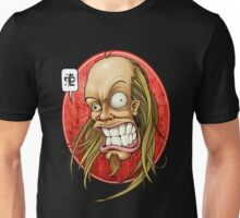 Hevy Devy Strapping Young Lad: Red Oval Unisex T-Shirt