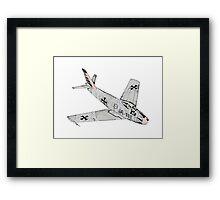 Canadian Sabre Mk VI Jet Aircraft Framed Print