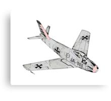 Canadian Sabre Mk VI Jet Aircraft Canvas Print