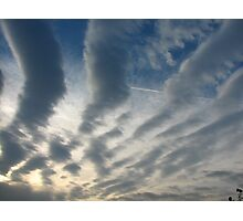 stripy sky Photographic Print