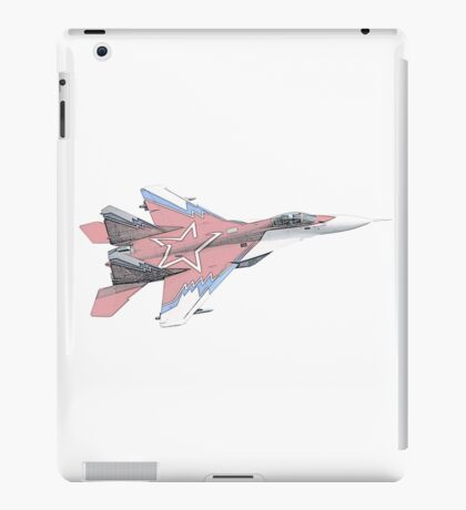 Russian MiG jet fighter aircraft iPad Case/Skin