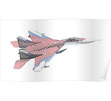 Russian MiG jet fighter aircraft Poster