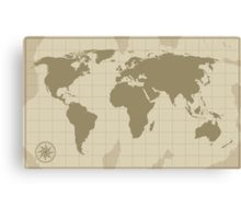 World Map Canvas Print