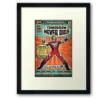 CHIKARA's Tomorrow Never Dies - Official Wrestling Poster Framed Print