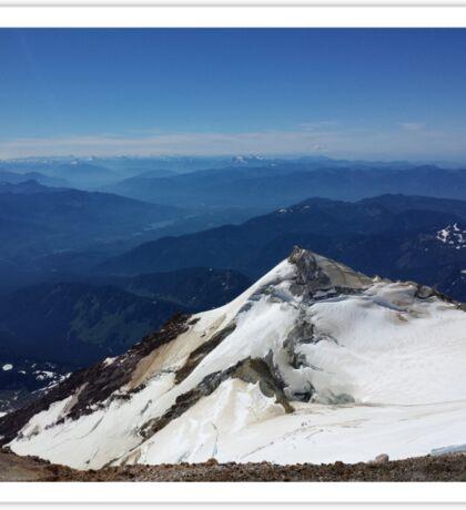 Summit of Baker - View of Rainier and Glacier Peaks Sticker