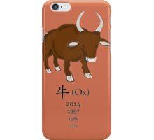 Ox - Chinese Zodiac iPhone Case/Skin
