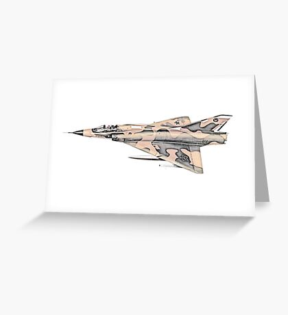 French Dassault Mirage aircraft Greeting Card