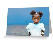 Burberry Girl Congo Greeting Card
