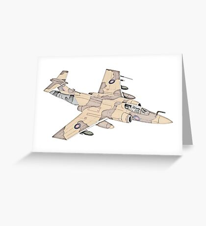 Blackburn Buccaneer aircraft Greeting Card