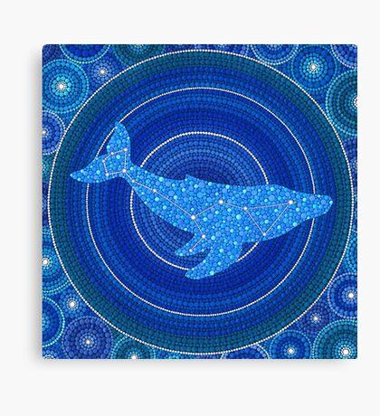 Cetus (whale) Constellation Mandala Canvas Print