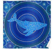 Cetus (whale) Constellation Mandala Poster