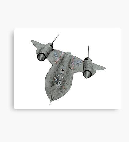 SR71 Blackbird aircraft Canvas Print