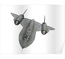 SR71 Blackbird aircraft Poster
