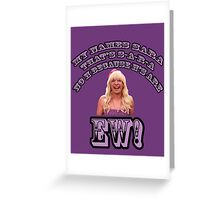 Jimmy Fallon EW! Greeting Card