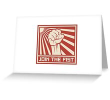 Join The Fist Greeting Card