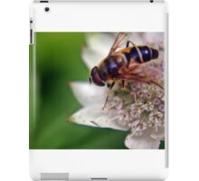 Macro Drone Flower A iPad Case/Skin