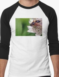 Macro Drone Flower A Men's Baseball ¾ T-Shirt