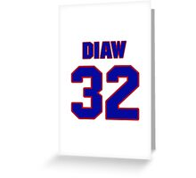 Basketball player Boris Diaw jersey 32 Greeting Card