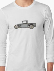 1932 Ford Custom Pickup Truck - RatRod Long Sleeve T-Shirt