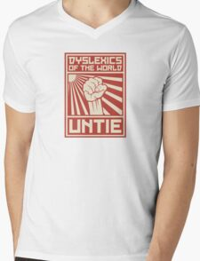 Dyslexics of the World UNTIE Mens V-Neck T-Shirt