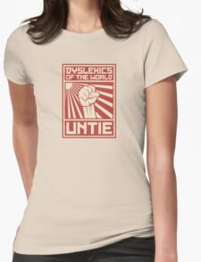 Dyslexics of the World UNTIE Womens Fitted T-Shirt