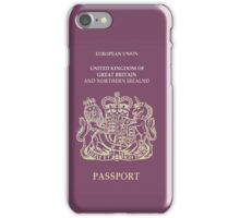 UK Passport  iPhone Case/Skin