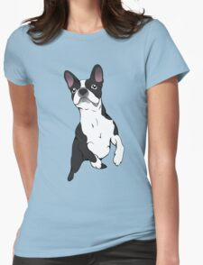 Boston Terrier Time!  Womens Fitted T-Shirt