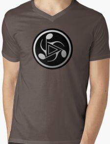 Music Notes Gray Mens V-Neck T-Shirt
