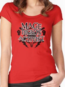 Mage Rights Activist Women's Fitted Scoop T-Shirt