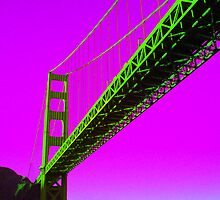 Golden Gate Bridge - In Fluro by Ezza
