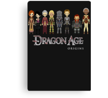 Dragon Age Origins Party Canvas Print