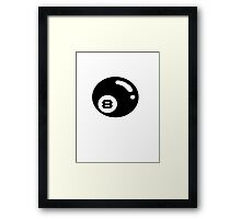 Freight 8-ball Framed Print