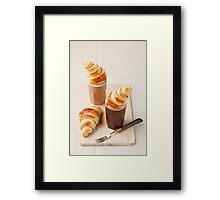 Small croissants Framed Print