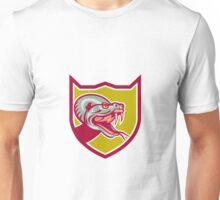 Rattle Snake Head Shield Retro Unisex T-Shirt