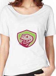 Viper Snake Serpent Head Shield Retro Women's Relaxed Fit T-Shirt