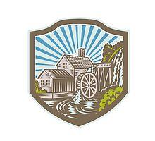 Watermill House Shield Retro by patrimonio