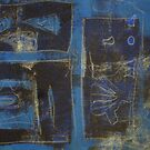 Blue Monotype 26 by Susan Grissom