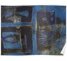 Blue Monotype 26 Poster