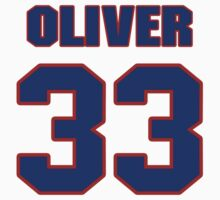 Basketball player Jimmy Oliver jersey 33 by imsport