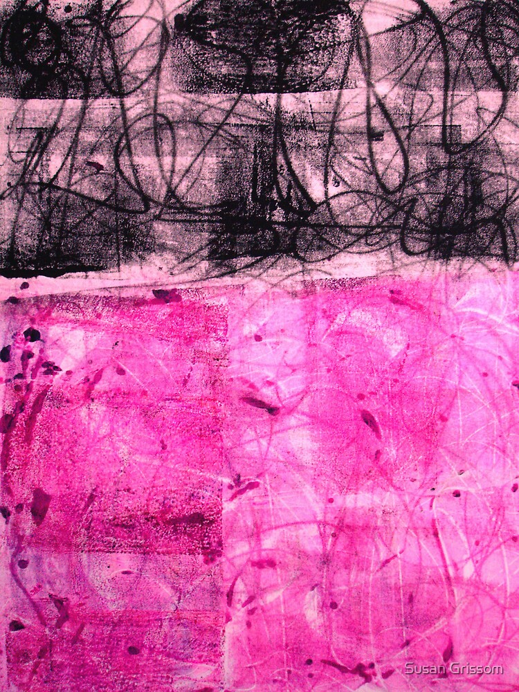 Pink And Black No 23 by Susan Grissom