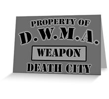 D.W.M.A. Weapon Uniform Greeting Card