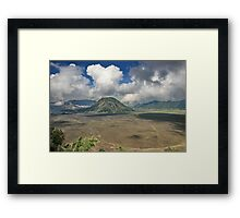 The top of Mountain Bromo Framed Print