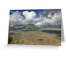 The top of Mountain Bromo Greeting Card