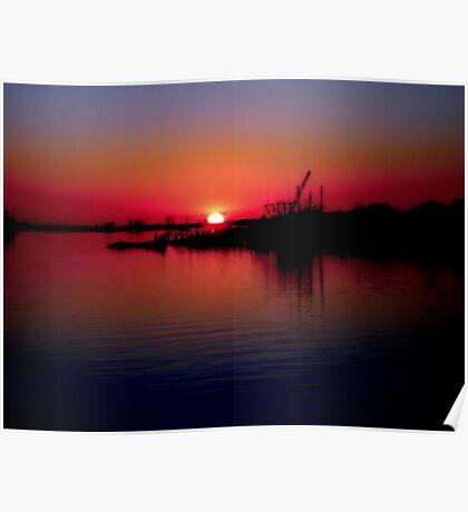 Monkey Island Sunset Poster