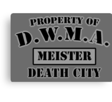 D.W.M.A. Meister Uniform Canvas Print