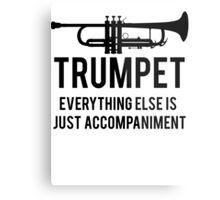 Funny Trumpet Player Metal Print