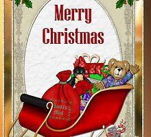 Santa Sleigh by SpiceTree