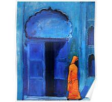 Blue door Marrakech Poster