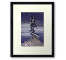 Immortalized In Silver Framed Print
