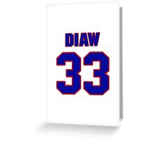 Basketball player Boris Diaw jersey 33 Greeting Card